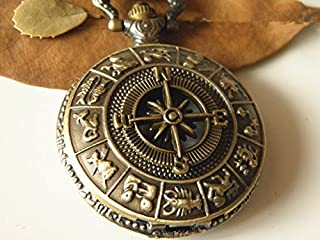 antique compass fob