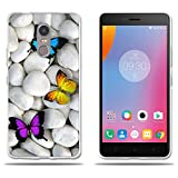 FUBAODA for Lenovo <span class='highlight'><span class='highlight'>K6</span></span> Note case, [Three Butterflies] Transparent Silicon Clear TPU Slim Fit Full Protection Anti Shock Design Boy Gift Minimalist Ultra Thin Lightest Protector for Lenovo <span class='highlight'><span class='highlight'>K6</span></span> Note