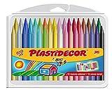 BIC Kids Plastidecor - Estuche de 36 unidades, ceras de colores...