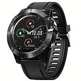 BINDEN Smartwatch VIBE 6 Reloj Inteligente con Pantalla Touch Color 1.3 Pulgadas con Bluetooth para Notificaciones y Llamadas BioTracker Frecuencia Cardiaca Acelerómetro Podómetro IP67 Compatible con iOS y Android, Silicón Negro