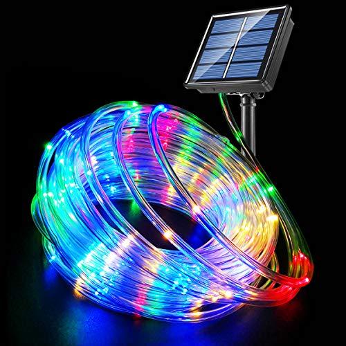 Fatpoom Solar Lights Rope Lights Solar Powered String Lights 40FT 120 LEDs 8 Modes Fairy Lights...