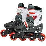 Sk8 Zone By Eurotrade Boys' HW219483 SK8 Zone Red Roller Blades Inline Adjustable Size Childrens Kids Pro Skating New (Medium 13-3 (31-34 EU)