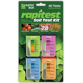 Luster Leaf 1601 Rapitest Test Kit for Soil pH Nitrogen Phosphorous and Potash 1 Pack