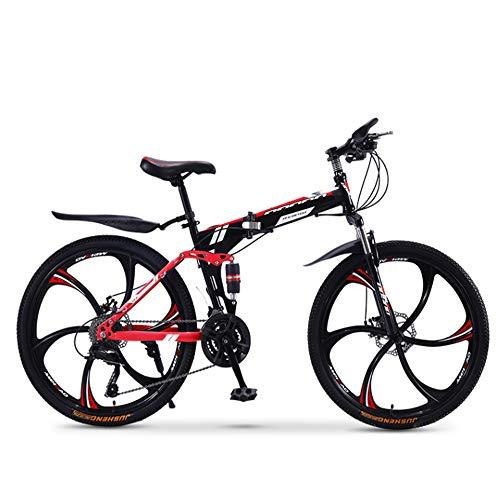 XWDQ Mountainbike Fahrrad Erwachsene Falten 20/24/26 Zoll Doppel Stoßdämpfende Off-Road Speed Racing Jungen Und Mädchen Fahrrad,26inch,24speed