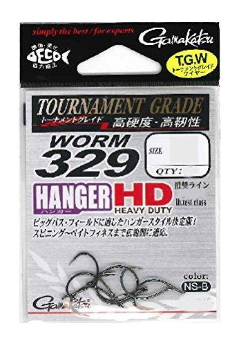 がまかつ(Gamakatsu) ワームフック ワーム 329 ハンガーHD 2号 7本 NSブラック 68023