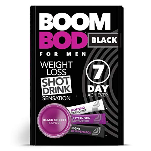Boombod Weight Management Shot Drink, Glucomannan, High Potency, Diet and Exercise Enhancement, Keto and Vegan Friendly, Sugar and Aspartame Free, Gluten-Free - Black Cherry Flavour