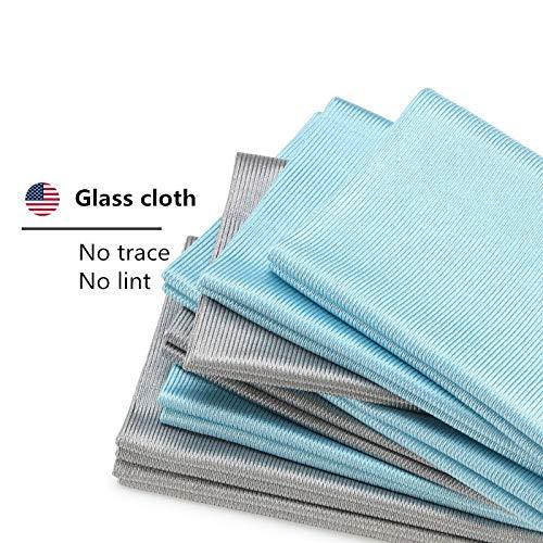 JIAXIA Productos de Limpieza 5 Piezas Paño de Limpieza del hogar Toalla de Limpieza de Espejo Suave Paño de Limpieza de Vidrio Limpieza de la Sala de Ducha 40 * 40 cm 5PCS Color al a