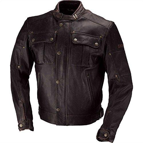 IXS Harding Motorrad Lederjacke, Farbe braun, Größe 48