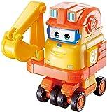 BESTWALED Super Alas Scoop Excavador Robot Deformación Robots Multifunción Juguete Conversión De Excavadoras Y Robots Creatividad Niños Juguetes Niño Niña Cumpleaños Navidad Regalo L12CM
