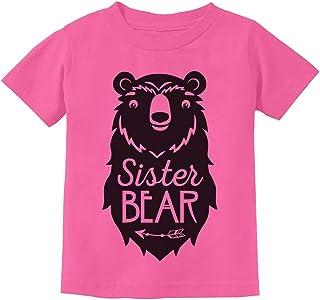 Big Sister Bear Cute Gift Sibling Girl Family Toddler Kids T-Shirt