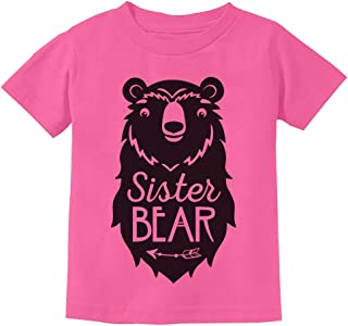Big Sister Bear Cute Gift Sibling Girl Family Toddler Kids T-Shirt