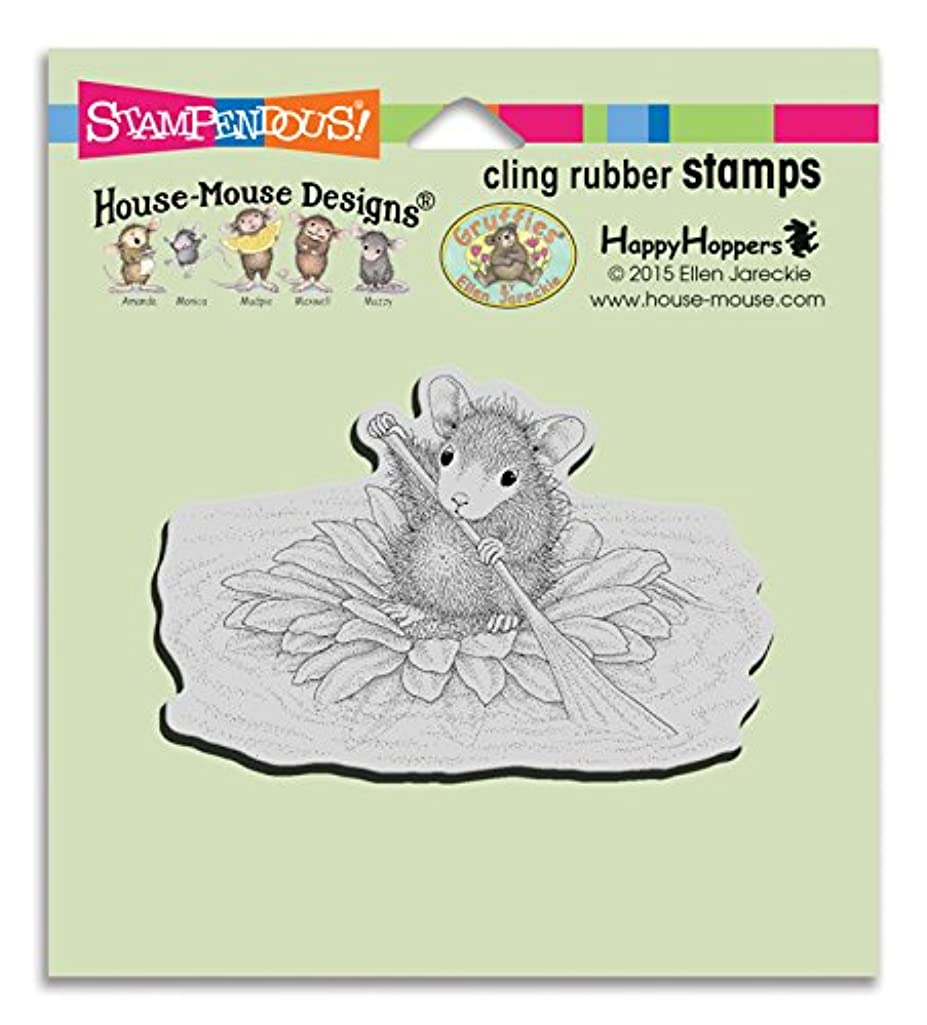 Stampendous HMCM20 House Mouse Cling Stamp, Petal Paddler