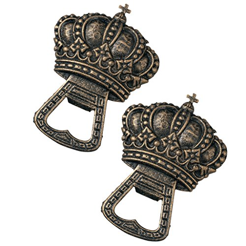 Design Toscano The King's Crown Cast Iron Bottle Opener: Set of Two