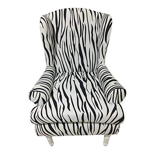 RecoverLOVE - 2 Fundas para sillas, diseño de ala de Jacquard con alas traseras, Funda extraíble de Licra elástica a Prueba de Polvo para Muebles