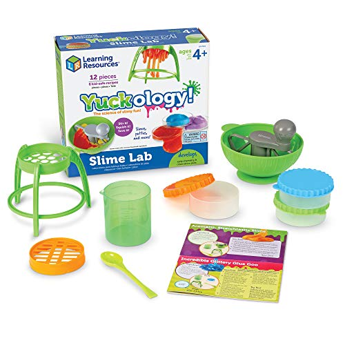 Image of the Learning Resources Yuckology Slime Science Set, Early Science Skills, DIY Slime, STEM Skills, Measurement, Color Mixing, Easter Basket Toy, Ages 4+