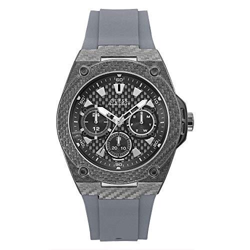 GUESS Reloj Analógico para Hombre de Cuarzo con Correa en Caucho W1048G1