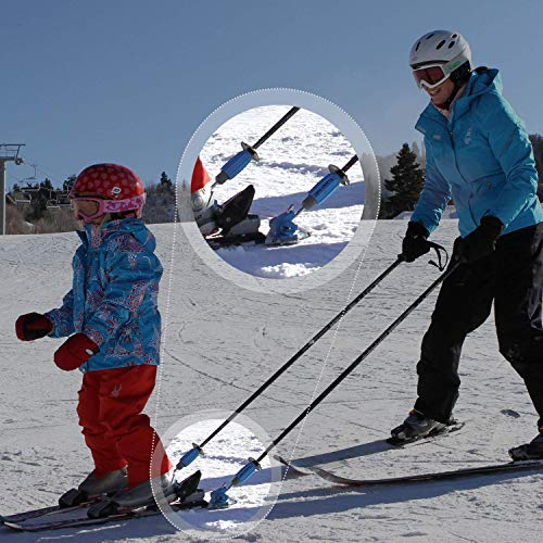 Launch Pad Hookease Ski Trainer - Learn to Ski - Teaches Proper Form and Speed Control - Universal Fit - Perfect for Beginners