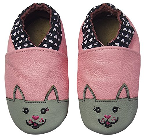 Rose & Chocolat Chaussures Bébé Sweetheart Kitty Rose Taille 18/19 cm 0-6 Mois