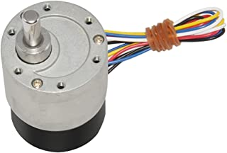 Aobbmok 12V 12RPM BLDC Electric Brushless Geared DC Motor CW/CCW Dia 37mm
