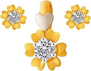 P.C. Chandra Jewellers 10KT Yellow Gold Jewellery Set for Women