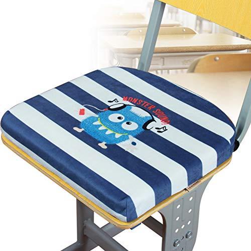 YEARLY Premium Memory-Schaum Sitzpolster, Verdicken sie Stuhlauflage Plüsch rutschfeste Indoor Outdoor Schule Student Klassenzimmer Orthopädisches sitzkissen-C 37x35x4cm(15x14x2inch)