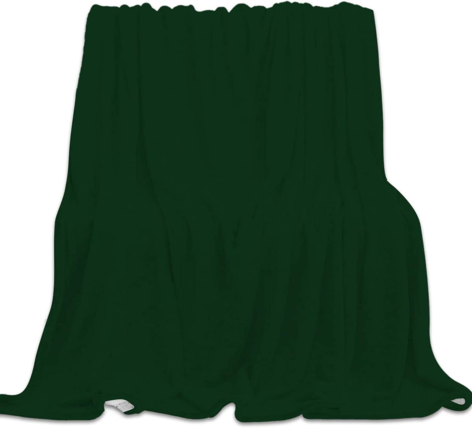 YEHO Art Gallery 39x49 Inch Flannel Fleece Bed Blanket Soft Throw-Blankets for Girls Boys,Dark Green Pattern,Lightweight Warm Kids Blankets for Bedroom Living Room Sofa Couch Home Decor