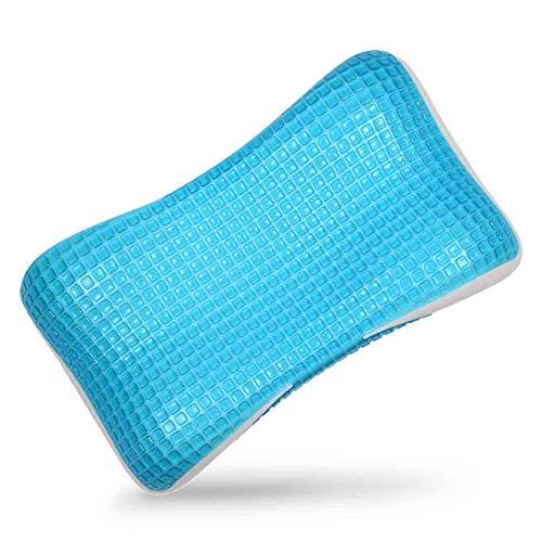 Neblus Almohada ortocervical de Memory Foam con Cooling Gel frío ortopedico para Dolor de Cuello y Espalda