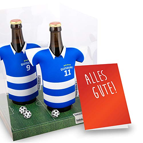 Der Trikotkühler | Das Männergeschenk für Duisburg-Fans | Langlebige Geschenkidee Ehe-Mann Freund Vater Geburtstag | Bier-Flaschenkühler by Ligakakao
