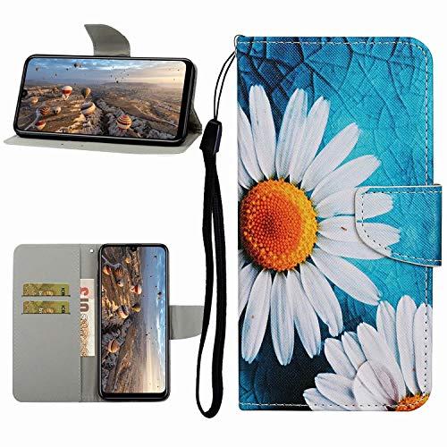 Miagon Hülle für Samsung Galaxy S20 Plus,Handyhülle PU Leder Brieftasche Schutz Flip Case Wallet Cover Klapphüllen Tasche Etui mit Kartenfächern Stand,Sonnenblume