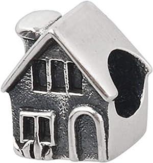 925 Sterling zilveren huis charme huis charme familie charme liefde charme verjaardag charme voor Pandora charme armband (A)