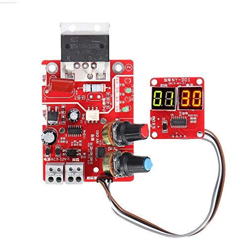 Electrónica Pantalla digital Estación de soldadura por puntos Placa controlador de tiempo y corriente Timing Amperímetro Soldadores por puntos Junta de control 40A/100A kit de electrónica (color: 40A)
