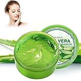 300g Organic Aloe Vera Gel - Hidratante para rostro y cuerpo, Hidrata la piel dañada, Ide...