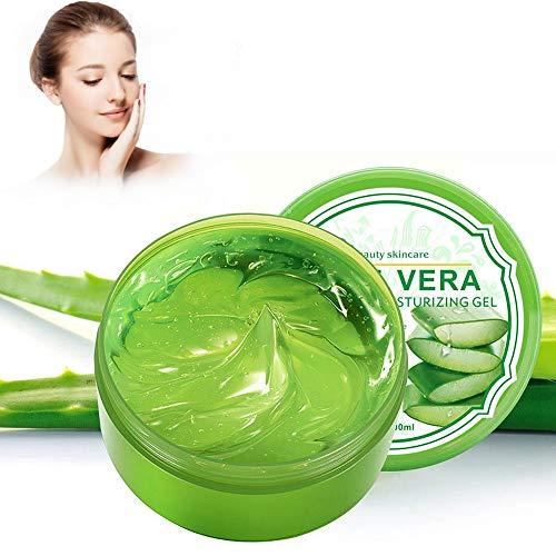 Gel Aloe Vera Bio - Hydratant Visage & Corps Cheveux, Hydrate la peau endommagée, Idéal pour les peaux sèches et stressées et les coups de soleil, l'a