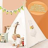 Peradix Tiendas de campaña para niños,Tipi Infantil con Alfombra Accesorios...
