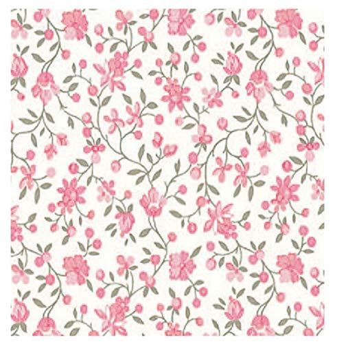 i.stHOME Klebefolie Möbelfolie selbstklebend Blumen rosa Blumenranken Dekofolie Möbel bunt...