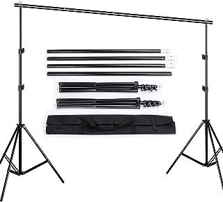 Queta 2,6 x 3m Soporte de Fondo para Fotografía para Estudio Fotográfico Kit de Soporte de Estante de Fondo con Bolsa de L...