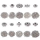 10 distanziatori di stili: fiore, fiocco di neve, bicono, attrezzi e altre forme, puoi scegliere le perle più adatte per il braccialetto, si abbinano perfettamente a diversi stili di abbigliamento. Il pacchetto include: 850 pz totalmente; Abbastanza ...