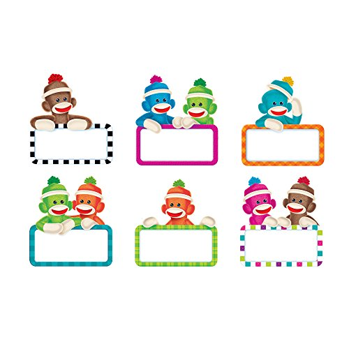 TREND enterprises, Inc. Sock Monkeys Signs Classic Accents Variety Pack, 36 ct