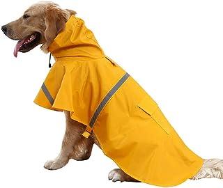 Pour Animal domestique imperm/éable Veste imperm/éable pour chat chien Capuche Manteau imperm/éable r/éfl/échissant JumpSuit Apparel