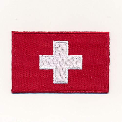 hegibaer 40 x 25 mm Schweiz Flagge Switzerland Flag CH Patch Aufnäher Aufbügler 1142 A