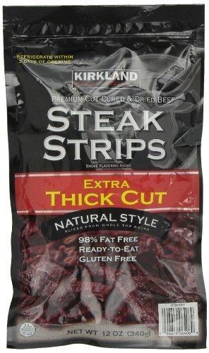 Kirkland Signature Premium Beef Popular Steak Strips Jerky Atlanta Mall Kirk 12 Oz by