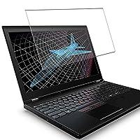 Vacfun ガラスフィルム , Lenovo ThinkPad P51 15.6インチ 向けの 有効表示エリアだけに対応する 強化ガラス フィルム 保護フィルム 保護ガラス ガラス 液晶保護フィルム