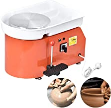 4YANG Ruota di Ceramica elettrica Certificato CE 25 CM 350 Watt Macchina Ceramica con Pedale e aggiorna i Piatti ABS con Kit in Ceramica da 8 Pezzi Blue