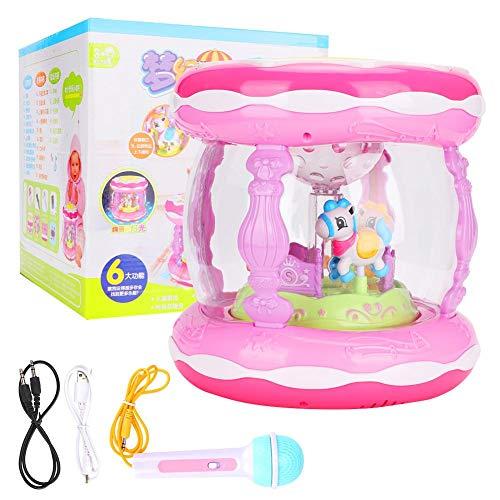 Naroote Musik Spielzeug,Wiederaufladbares Spielzeug Kinder lernspielzeug, wiederaufladbare Musical Kinder Drum Play Baby Kind Kleinkind Bunte Lichter Musik Spielzeug