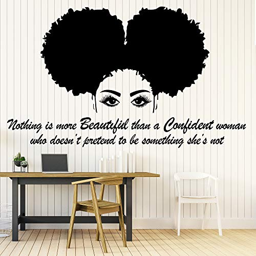 21 x 35 in Afro Wall Art Decals Decor - Afro American African Girl