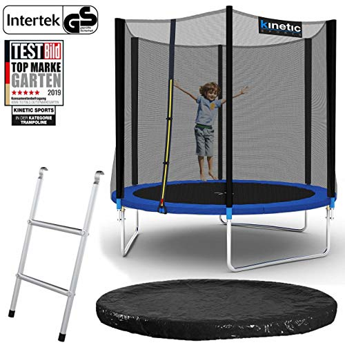 Kinetic Sports Outdoor Gartentrampolin Ø 244 cm, TPLS08, inklusive Sprungtuch aus USA PP-Mesh...
