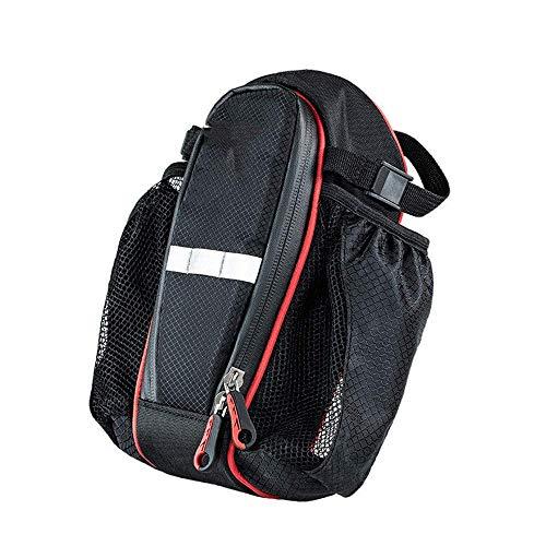 GHJU Fahrrad-vorderes Oberrohr Touchscreen-Sattel-Beutel-Fahrrad-Gürtel Satteltasche, Netztasche auf beiden Seiten Fahrrad-Sattel-Beutel-Bügel-Fahrrad-Sattel-Beutel-Fahrrad-Sattel-Beutel Qingqiao