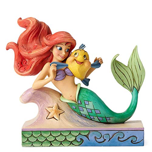 Disney Traditions 4054274 Ariel with Flounder Figurine 15 x 9 x 13 cm