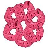 Paquete de 6 coleteros elásticos para el pelo, color rosa