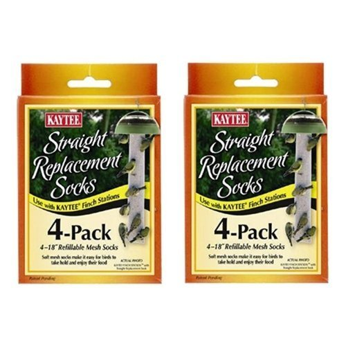 Kaytee #100501109 4 Count Replacement Finch Sock … (2 Pack) …